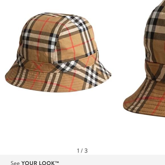 bdb067eea AUTHENTIC Burberry vintage check bucket hat. 👒